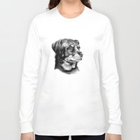 rottweiler Long Sleeve T-shirts featuring Rottweiler Devotion by Patricia Howitt