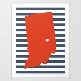 Indianapolis, Indiana Art Print