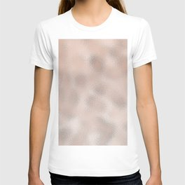 Rose gold gentle metallic T-shirt