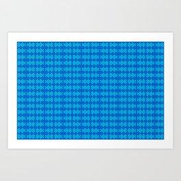 2706 Simply duotone pattern ... Art Print