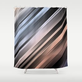 Abstract Diagonal Lines Shower Curtain