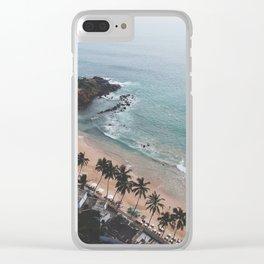 Aerial Mirissa Beach, Sri Lanka 2 Clear iPhone Case