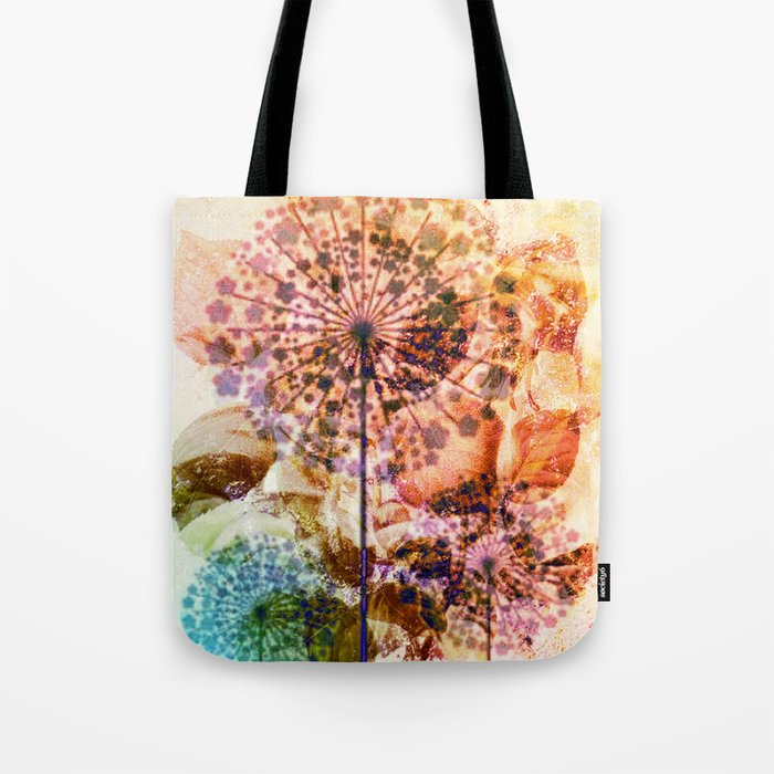 dandelion in warm tones Tote Bag