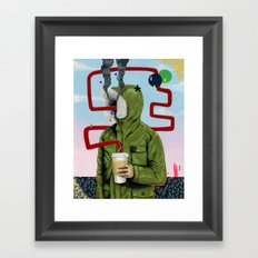 Caffeine Boost Framed Art Print