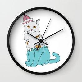 Inside Kitty Wall Clock