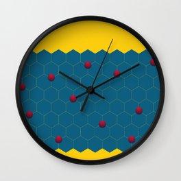 Exagons Wall Clock