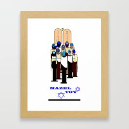 A Mazel Tov, Bar Mitzvah Framed Art Print