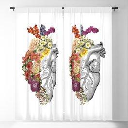 Flower Heart Spring White Blackout Curtain