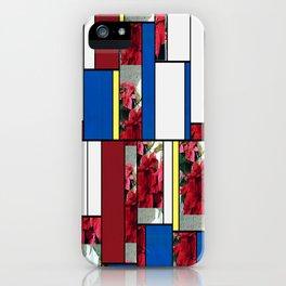 Mixed color Poinsettias 3 Art Rectangles 4 iPhone Case