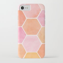 Desert Mood Hexagon Print iPhone Case