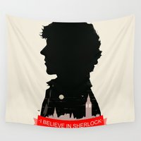 sherlock Wall Tapestries featuring Sherlock by Duke Dastardly