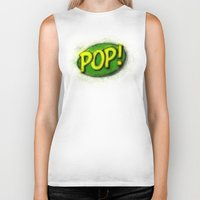 pop art Biker Tanks featuring Pop! by KitschyPopShop