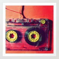 cassette Art Prints featuring Cassette by The 80s