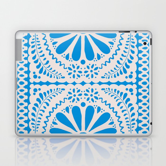 Fiesta de Flores in Party Blue Laptop & iPad Skin