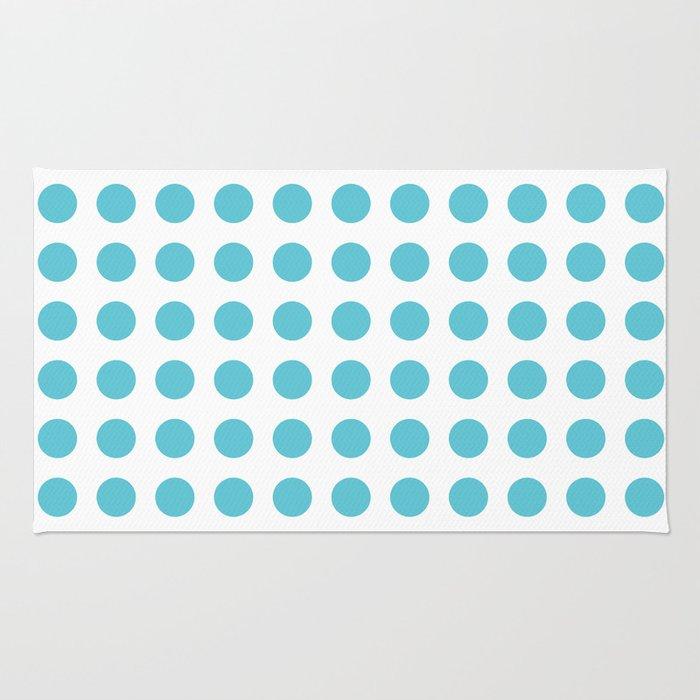 Simply Polka Dots in Seaside Blue Rug