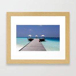 Jetty in the Indian Ocean Framed Art Print