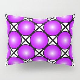 Neon Purple Pattern Pillow Sham