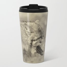 lonesome wolf Travel Mug