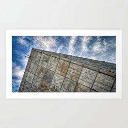 Sinking Building Sky of Dread Art Print