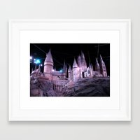 hogwarts Framed Art Prints featuring Hogwarts by Anabella Nolasco