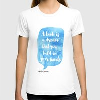 neil gaiman T-shirts featuring Neil Gaiman, quotes, Sky color by Roarr