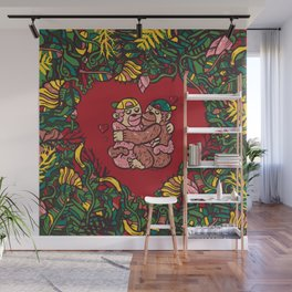 Monkey's love Wall Mural