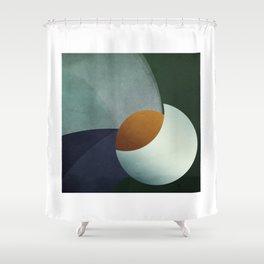 Birth of an Orange Shower Curtain
