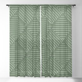 Diagonal Stripes Background 34 Sheer Curtain