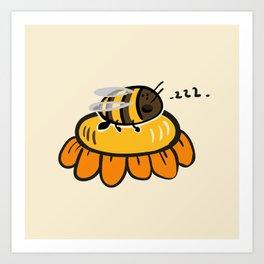 Sleeping bee Art Print