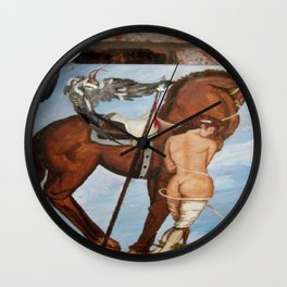 Professor Harvard on the Family painting by Jes Fuhrmann  Wall Clock