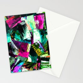 abstract art paint chips Stationery Cards