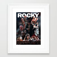 saga Framed Art Prints featuring Rocky Saga by Saint Genesis
