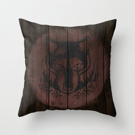 Wolf Shield Throw Pillow