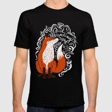The Fox Says Mens Fitted Tee Black MEDIUM