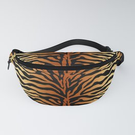 Tiger Stripes Animal Print in Rust Brown, Amber, Black and Tan Fanny Pack