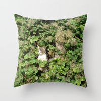 kittens Throw Pillows featuring kittens by death above