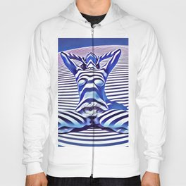 9665s-KMA_5201 Powerful Blue Woman Open Free Striped Sensual Sexy Abstract Nude Hoody