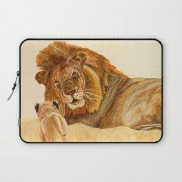 Lion Watercolor Laptop Sleeve