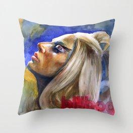 Woman in Music II Throw Pillow
