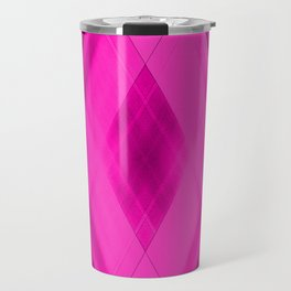 Hot triangular strokes of intersecting sharp lines with inky triangles and stripes Travel Mug