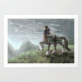 Centaur Mother and Foal Art Print
