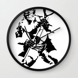 lax goalie Wall Clock