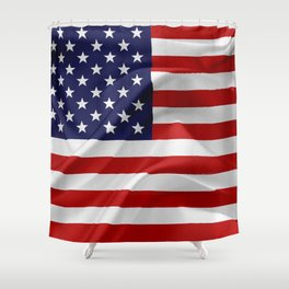 The Flag of the United States of America Shower Curtain