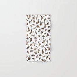 Grey birds Hand & Bath Towel