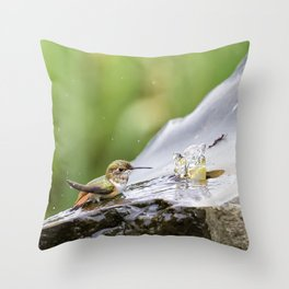 Birds Just Want to Have Fun Throw Pillow