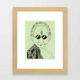Weekend at Gandhi's Framed Art Print