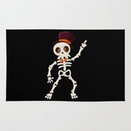Dancing halloween skull Rug