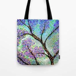 Lavender Branch Tote Bag
