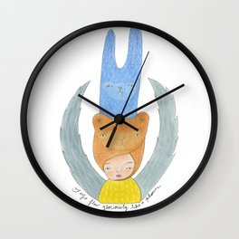 Faye the Phoenix Wall Clock