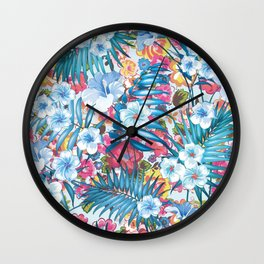 Flower Happiness Wall Clock